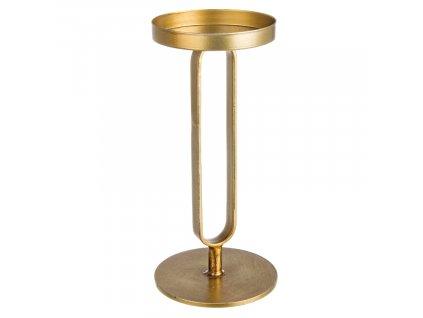 Zlatý kovový svícen Bizzotto Adhira