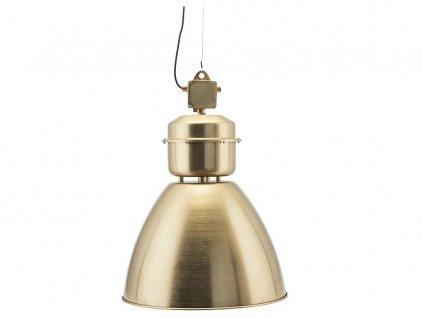 Zlaté kovové závěsné světlo Volumen 54 cm