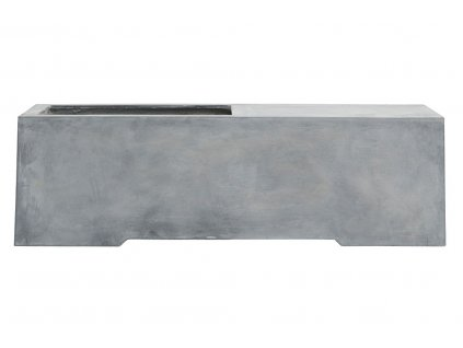 Šedá cementová lavice Crow 130x40 cm