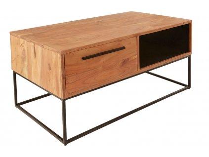 Masivní akátový konferenční stolek Daisy 110x60 cm