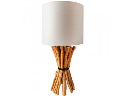 Bílá stolní lampa Baton