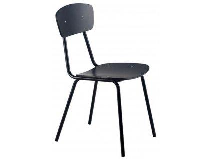 Černá kovová jídelní židle MARA SIMPLE