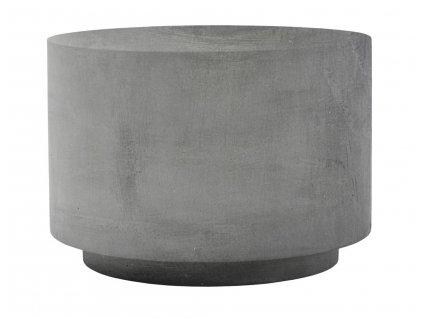 Šedý cementový konferenční stolek Fifty 50cm