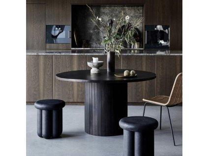 Černý masivní mangový stolek Phant 43cm