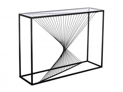 Černý kovový toaletní stolek Bizzotto Espiral 107x30 cm