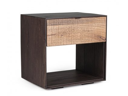 Hnědý mangový noční stolek Bizzotto Gunter 50x40 cm
