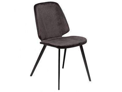 Černá sametová jídelní židle DanForm Swing