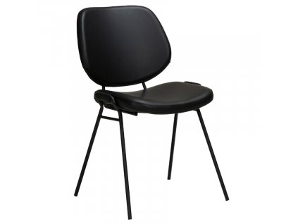 Černá koženková jídelní židle DanForm Yeet
