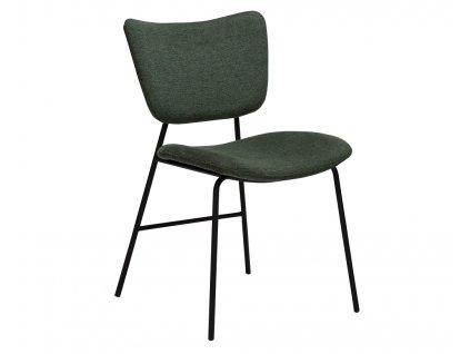 Zelená látková jídelní židle DanForm Thrill