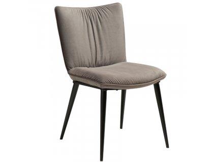 Šedá sametová jídelní židle DanForm Join