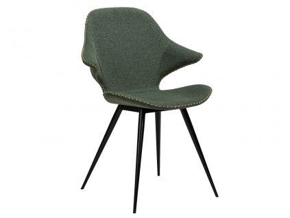 Zelená látková jídelní židle DanForm Karma