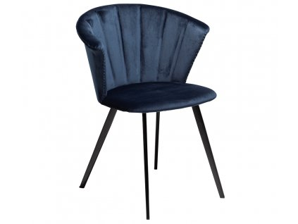 Modrá sametová jídelní židle DanForm Merge