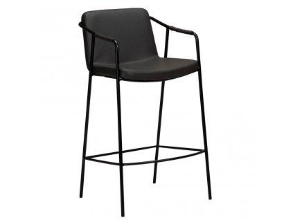 Šedá kožená barová židle DanForm Boto 95 cm