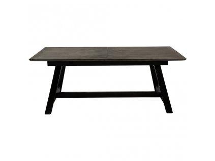 Šedý rozkládací jídelní stůl DanForm Dumas 100x200-300 cm