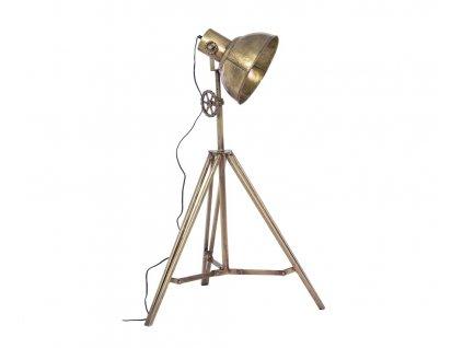Zlatá kovová stojací lampa Bizzotto Ileana 132 cm