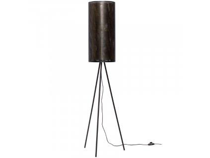 Černá kovová stojací lampa Hübsch Tubs 130 cm