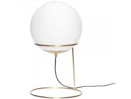 Bílo zlatá kovová stolní lampa Hübsch Loun 53 cm