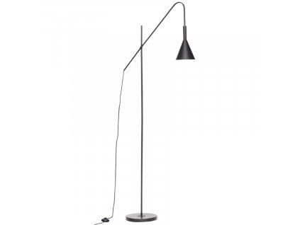 Černá kovová stojací lampa Hübsch Aden 167 cm