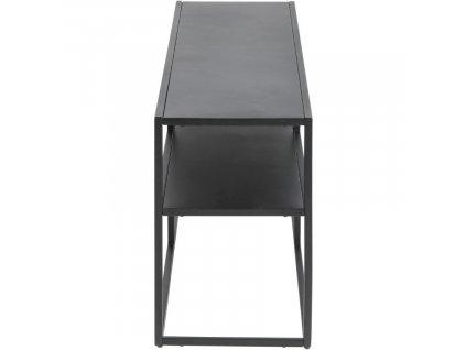 Černý TV stolek Renna, lakovaný kov