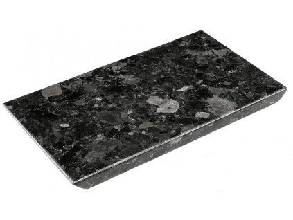 Černý kamenný servírovací podnos RGE Décor 35 x 20 cm