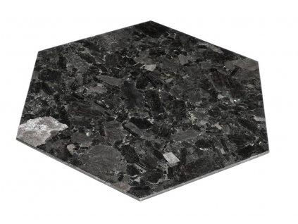 Černý kamenný servírovací podnos RGE Décor 30 x 30 cm