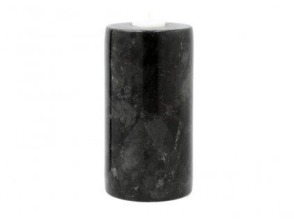 Černý kamenný svícen RGE Décor 20 cm