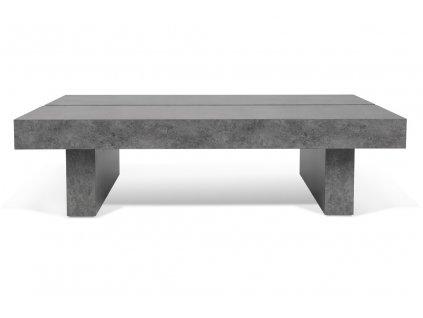 Šedý betonový konferenční stolek Tokos 94x62 cm