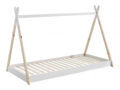 Bílá dětská dřevěná postel Vipack Tipi 90x200 cm