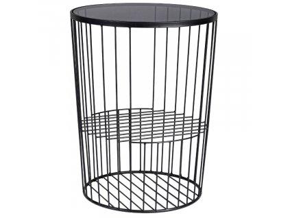 Set dvou kovových konferenčních stolků Bizzotto Kieran 42/50 cm