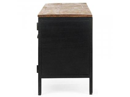 Černý kovový TV stolek Bizzotto Roderic 120x35 cm