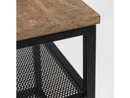 Černý kovový odkládací stolek Bizzotto Roderic 43x43 cm