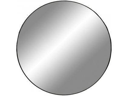 Černé kulaté závěsné zrcadlo Vincent 60 cm
