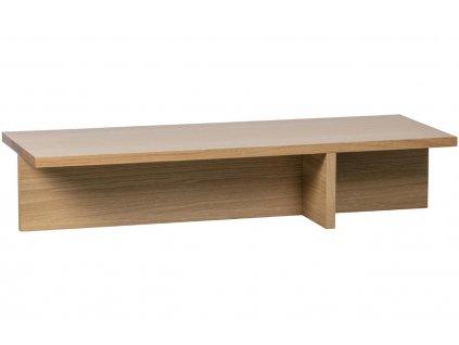 Dubový konferenční stolek Skinner 135 x 49 cm