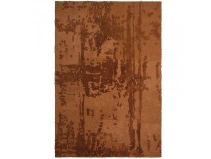Kaštanově hnědý sametový koberec Michelle 170 x 240 cm