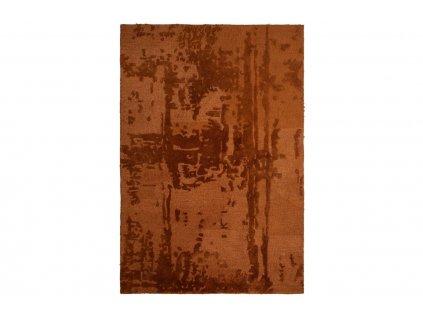 Oranžový sametový koberec Michelle 170 x 240 cm