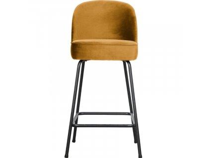 Hořčicově žlutá sametová barová židle Tergi 65 cm848x848