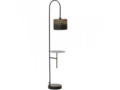 Černo zlatá stojací lampa Bessie