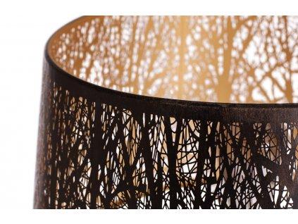 Černo zlatá kovová stojací lampa Pumba
