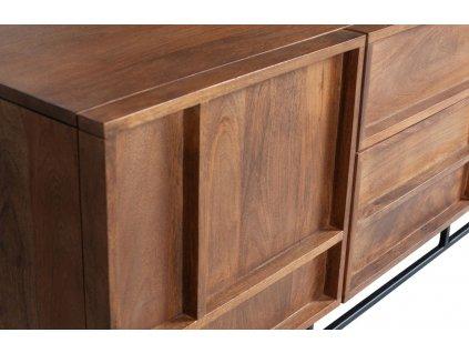Masivní mangový TV stolek Woods 140 x 42 cm