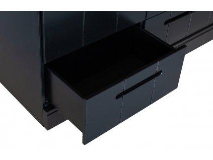 Černá dřevěná skříň Ernie 140 x 53 cm