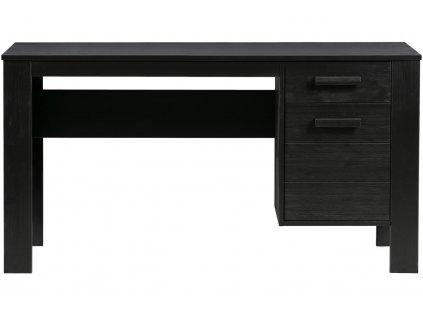 Černý dřevěný psací stůl Koben 141 cm