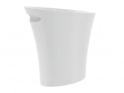 Bílý plastový koš na odpadky Skippy