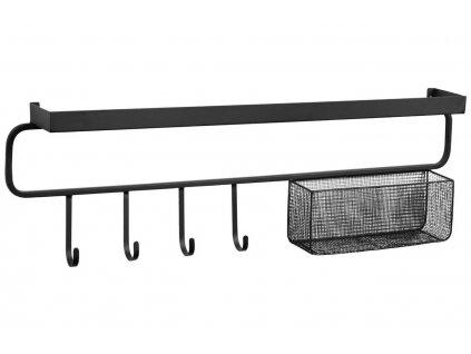Černý kovový věšák LaForma Callia 86 cm