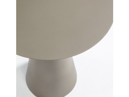 Zeleno šedý kovový odkládací stolek LaForma Shirel Ø 38 cm