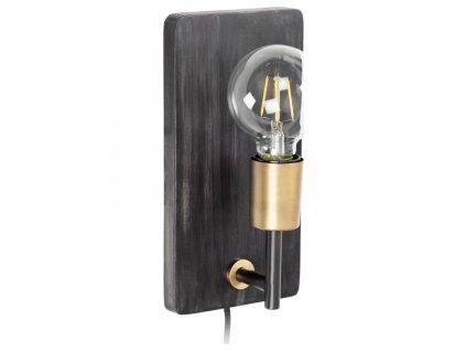 Černo zlaté nástěnné světlo LaForma Jayla 25 cm
