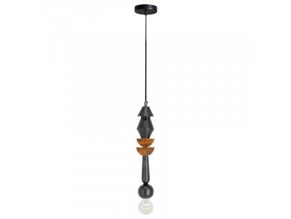 Černé kovové závěsné světlo LaForma Jellis 39 cm