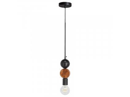 Černé kovové závěsné světlo LaForma Jellis 24 cm