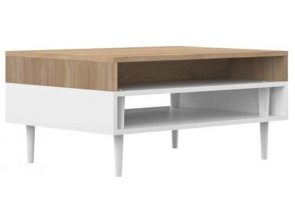 Bílý dubový konferenční stolek Morley 80 x 53 cm