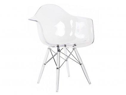 Transparentní plastová židle DAW