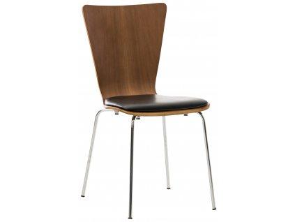 Ořechová čalouněná jídelní židle Aron